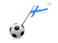 Soccer ball with the flag of Finland