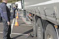 Verkehrskontrolle, Polizeikontrolle, LKW,
