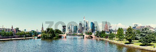 Downtown von Frankfurt am Main City als Panorama