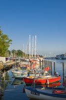 Fischerboote im Hafen in Neustadt in Holstein