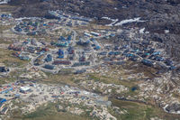 Aerial View of Ilulissat, Greenland