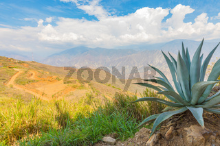 panoramic view of the Chicamocha Colombia canyon