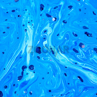 Abstract oil paints background in a blue colours.