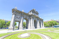 Puerta de Alcala is a one of the Madrid ancient doors of the city of Madrid, Spain. It was the entrance of people coming from France, Aragon, and Catalunia. It is a landmark of the city.