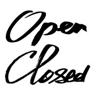 Open, Closed - ink lettering