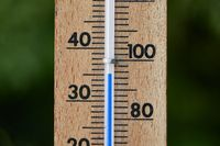 Thermometer in summer