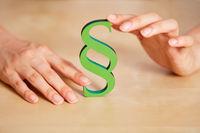 Grüner Paragraph als Nachhaltigkeit Konzept