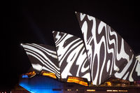 Vivid Sydney - Opera House swirl patterns