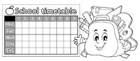 Coloring book timetable topic 9