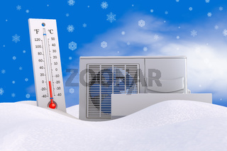 Air conditioning and thermometer