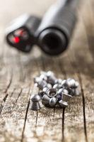 Lead airgun pellets.