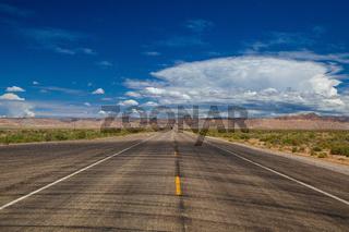 The typical US motorway, Utah, USA