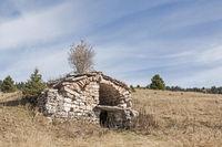 Steinhütte auf dem Coepass