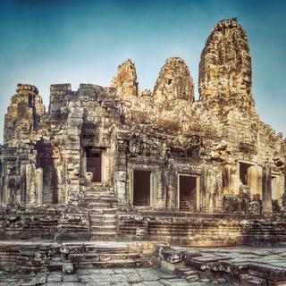 Bayon temple in Angkor Thom. Siem Reap. Cambodia