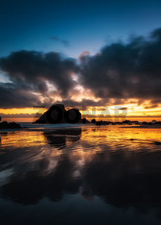 Sunset at Camel Rock, Northern California Coast