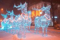 Christmas deer from garlands