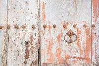 Detail einer Holztüre als Hintergrund