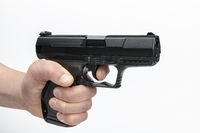 Hand with firearm