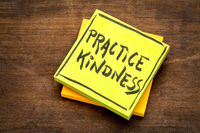 Practice kindness reminder note