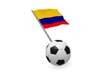 Soccer ball with the flag of Colombia