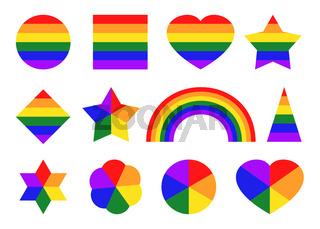 Pride color icons