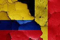 flags of Colombia and Belgium