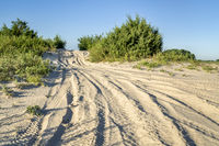 sandy trail in Nebraska Sandhills