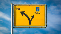 Street Sign True versus False