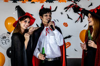 Halloween Party drinking singing