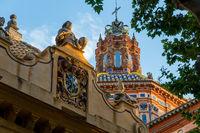 Kuppel der Santa Maria Magdalena Kirche, Sevilla, Andalusien, Spanien, Europa