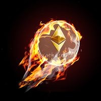 Etherium on fire