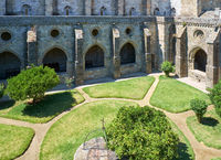 A cloister and the interior courtyard of Cathedral (Se) of Evora. Portugal