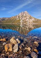 Picturesque pyramidal mountain