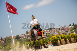 Turkish horseman  ethnic clothes examples