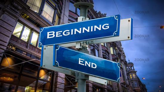 Street Sign Beginning versus End