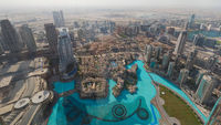 Dubai panorama from tall building