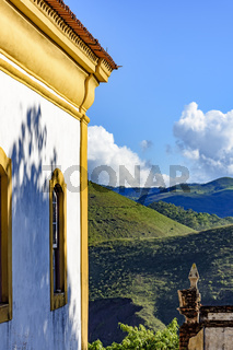 Church and mountains of Ouro Preto