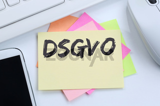 DSGVO Datenschutz Grundverordnung Verordnung Regel EU Europäische Union Internet Business Konzept Schreibtisch