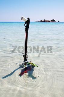 Taucherharpune mit Beute - Korsika