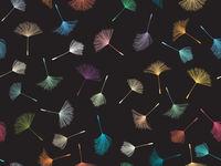 Dandelion pattern in colors