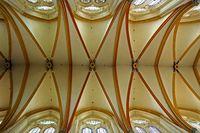 Gewoelbe, Kathedrale Saint Etienne, Toul, Frankreich