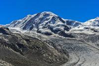 Gipfel Liskamm und Grenzgletscher, Zermatt, Wallis, Schweiz