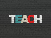 Studying concept: Teach on wall background