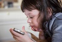 Child addicted phone