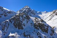 Gipfel Pointe des Lacerandes beim Grossen St. Bernhard Pass, Bourg-St-Pierre, Wallis, Schweiz