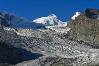 Gipfel Castor, Grenzgletscher, Zermatt, Wallis, Schweiz