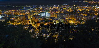 Targu Mures city night time background