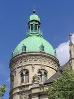 Hannover - Gebäude des Historismus, schmuckvoller Eckturm, Deutschland