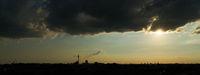 Berlin Skyline Banner mit Fernsehturm abends