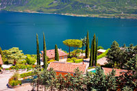 Limone sul Garda idyllic lake waterfront view